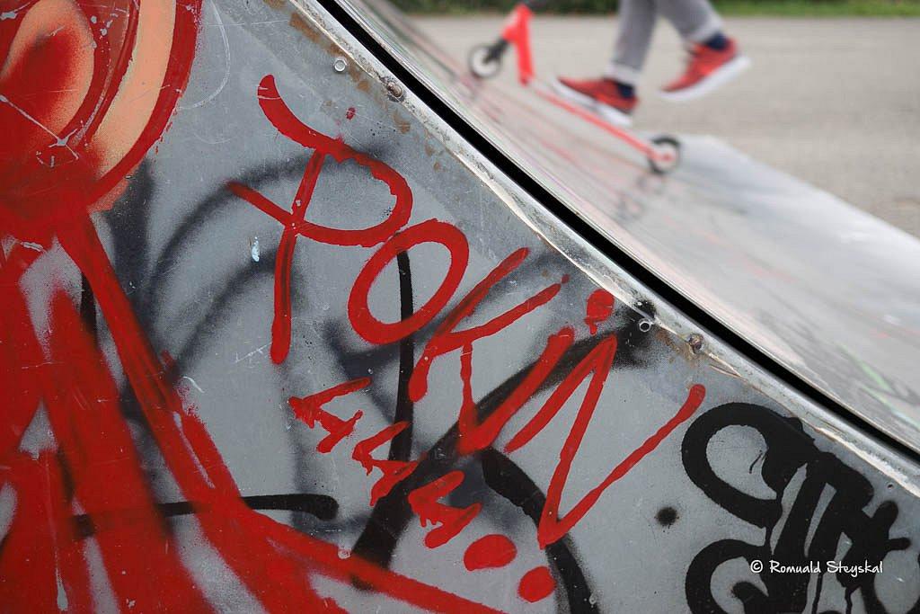 Red skate park